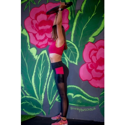 Legging Jazmin Negro Bordo Peacemaker