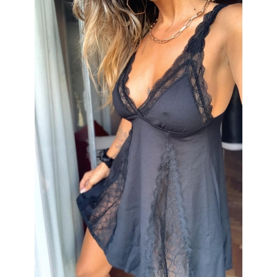 Camisolin Negro Piel Swim & Under