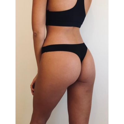 Vedetina less pack x2 Nude  Negro